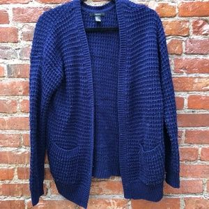 Forever 21 Blue Contemporary Open-Front Cardigan